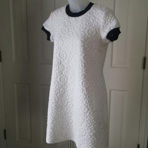 Zara Woman quilted short sleeve dress